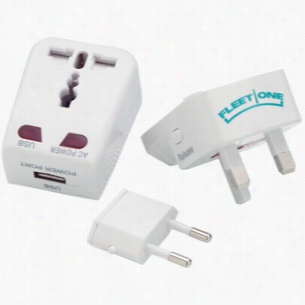 Universal Travel Adapter with USB Port