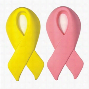 Awareness Award Ribbon Squeezie - Pink or Yellow