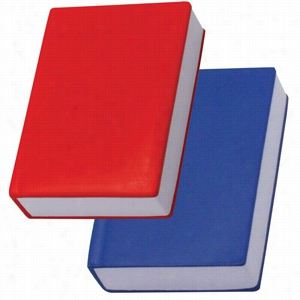 Book Squeezies Stress Reliever - Red or Blue