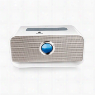 Brookstone Big Blue Live 2 Wireless Bluetooth NFC Speaker - White