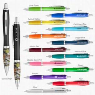 Curvaceous Gel Ink Click Pen