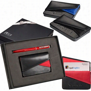 Fairview Card Case & Stylus Pen Gift Set