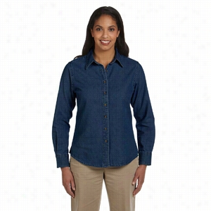 Harriton Long-Sleeve Denim Shirt
