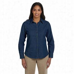 Harriton Long-Sleeve Denim Shirt