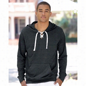 J. America Sport Lace Jersey Hooded Pullover