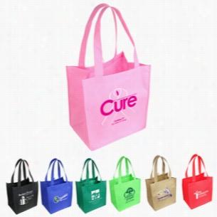 """Non Woven Multi Color Sunbeam Shopping Tote Bag 12"""" X 14"""