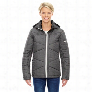 North End Sport Blue Ladies' Avant Tech Melange Insulated Jacket with Heat Reflect Technology