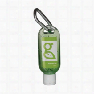 1.9 oz Aloe Gel in Clear Bottle with Carabiner