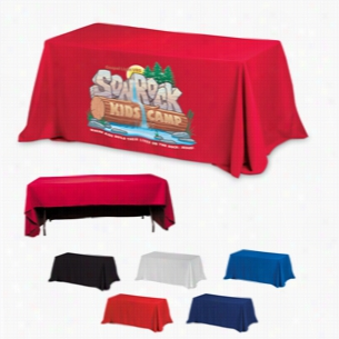 3-Sided Economy 6 ft Table Covers (PhotoImage 4 Color)