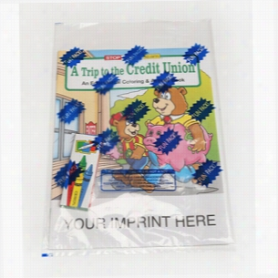 COLORING SET - A Trip to the Credit Union - Coloring Book Fun Pack