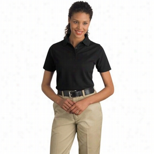 CornerStone Ladies Industrial Pocketless Pique Polo