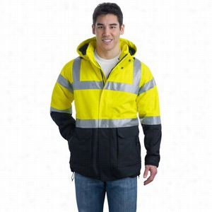 Port Authority ANSI Class 3 Safety Heavyweight Parka