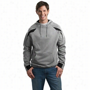 Sport-Tek Color-Spliced Pullover Hooded Sweatshirt