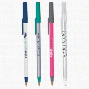 BIC Round Stic Ballpoint Pen with Free 2 Color Imprint - Custom Pens