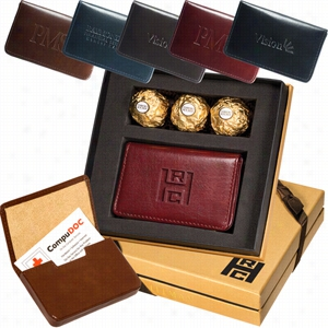Card Case & Ferrero Rocher Chocolates Gift Set