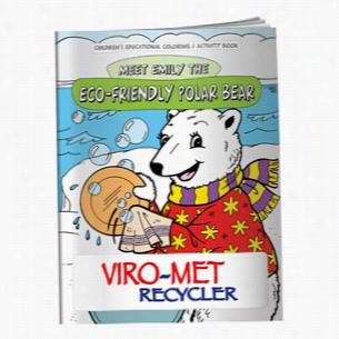 Coloring Book: Eco-Friendly Polar Bear