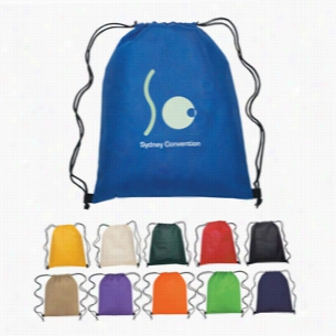 "Custom Non Woven Hit Drawstring Backpack - 13"" X 16.5"