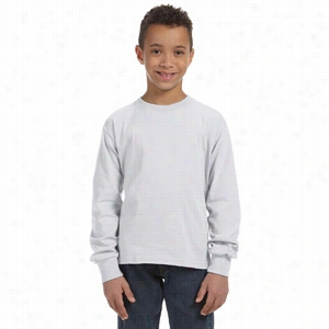Fruit of the Loom Youth 5 oz 100% Heavy Cotton HD Long-Sleeve T-Shirt