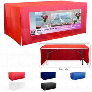3-Sided Open Corner 8ft Table Covers (PhotoImage 4 Color)