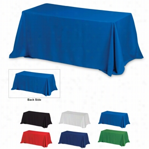 4-Sided Throw Style 8 ft Table Covers -Blanks