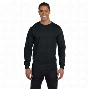 Hanes 5.2 oz ComfortSoft Cotton Long-Sleeve T-Shirt