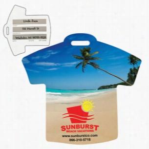 Stock Shape Beach Scene T-Shirt Luggage Bag Tag