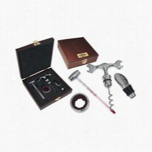 4-Piece Wine Gift Set in Rosewood Box