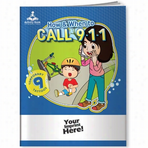Activity Book W Temporary Tattoos - How & When To Call 9-1-1