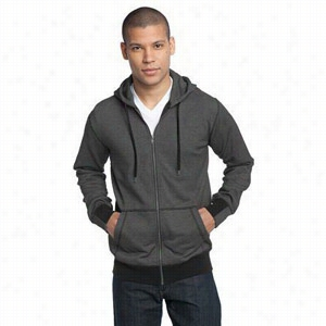 District Made Mens Mini Stripe Full-Zip Hoodie