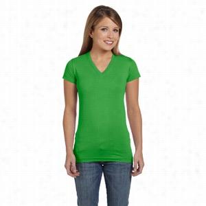 LA T Sportswear Fine Jersey V-Neck Longer Length T-Shirt
