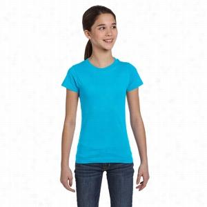 LA T Sportswear Youth Fine Jersey Longer Length T-Shirt