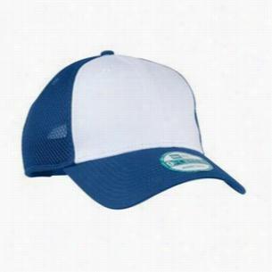 New Era Snapback Contrast Front Mesh Cap