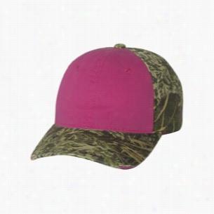 Outdoor Cap Frayed Ladies' Camouflage Cap
