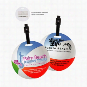 Recycled Mini Beach Ball Luggage Tag
