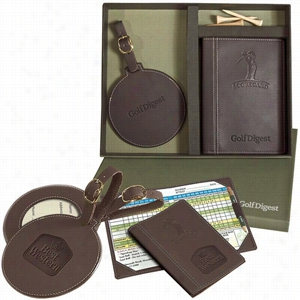 Woodbury Golf Scorecard round Golf Tag Set