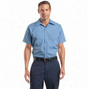 CornerStone Short Sleeve Striped Industrial Work Shirt