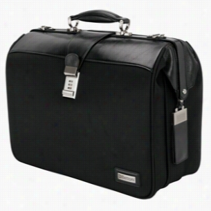 Genova - V&V Shiny Leather Web Nylon Computer Document Bag