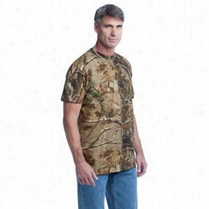 Russell Outdoors Realtree Explorer 100% Cotton T-Shirt with Pocket