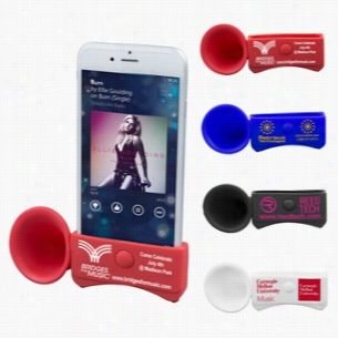 Silicone Megaphone Speaker and Stand for use with iPhone 6