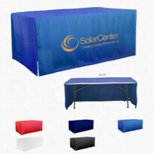 3-Sided Open Corner 6ft Table Covers (Spot Color Print)