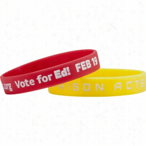 Debossed With Color Fill Silicone Wristband
