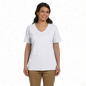 Hanes 5.2 oz ComfortSoft V-Neck Cotton T-Shirt