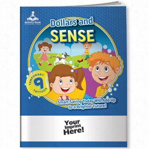 Activity Book W Temporary Tattoos - Dollars And Sense