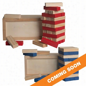 Colored Block Wooden Tower Puzzle
