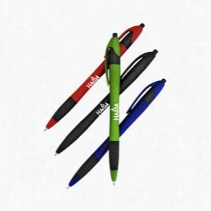 Euro Rubber Grip Click Ballpoint Pen