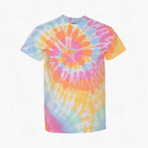 Tie-Dyed Multi-Color Spiral Short Sleeve T-shirt