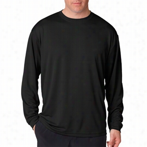 UltraClub Adult Cool & Dry Sport Long-Sleeve Tee