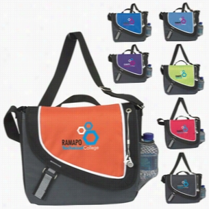 "Polyester A Step Ahead Messenger Bag 13.5"" X 12.25"