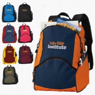 "Polyester Multi Color On The Move Backpack 12.5"" X 17"