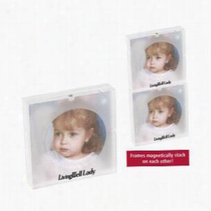 "3""x3"" Acrylic Magnetic Stacking Photo Frame"